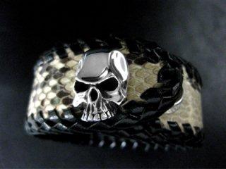 【TRANSCORE】 Snake Skin Skull Wrist