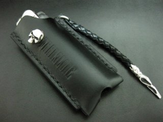 【TRANSCORE】 TSC Leather Lighter Case (Skull)