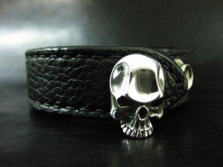 【TRANSCORE】 Plain Skull Wrist Band