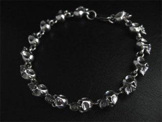 【TRANSCORE】 Petit Skull Link Bracelet