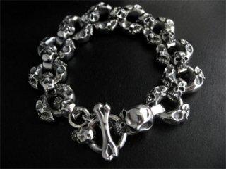 【TRANSCORE】 Round Skull & Skull Bracelet
