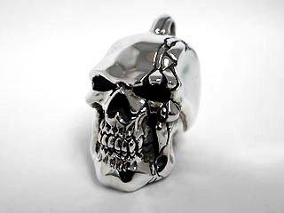 【TRANSCORE】 Cracked Skull Pendant top