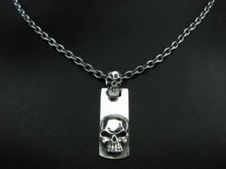 【TRANSCORE】 TSC Skull Zip Pendant
