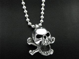 【TRANSCORE】 Crossbone Skull Pendant