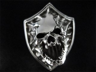 【TRANSCORE】 Skull Shield Ring