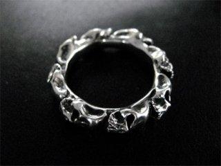 【TRANSCORE】 Round Skull Ring