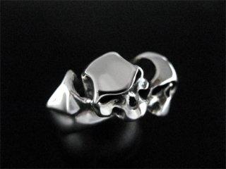 【TRANSCORE】 Two Faces Bat Skull Ring