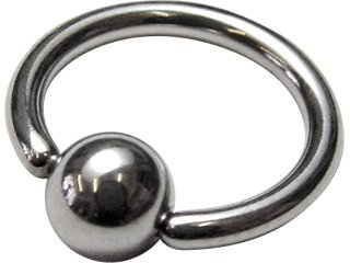 Implantation Steel Ball Closure Ring 16G