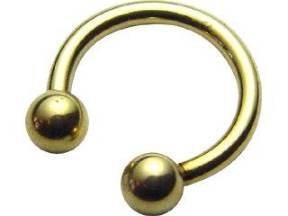 【GCR-14G】Zircon Circular Barbells 14G