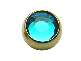 【GJB-14G】Zircon Threaded Jewelled Balls 14G用