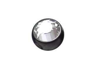 【KCJ】Blackline Clip In Jewelled Balls (4mm ball)