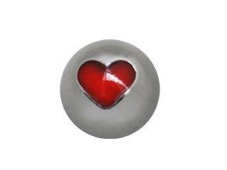 【XOP-14G】Titanium Heart Balls 14G用