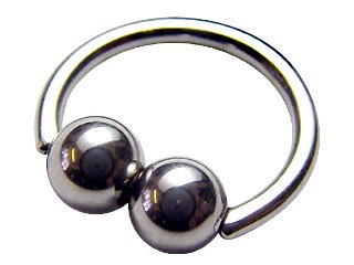 【DBH】Double Ball Closure Ring (定価¥2,100)