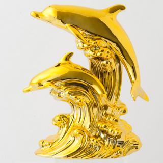 ドルフィン ブランデー|ゴールドドルフィン(イルカ 2匹版) 40% 500ml