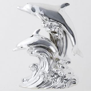 ドルフィン ブランデー|プラチナムドルフィン(イルカ 2匹版) 40% 500ml