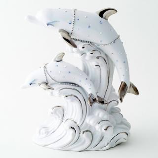 ドルフィン ブランデー|ホワイトドルフィン ブルーアイズ(ブルーサファイヤ)(イルカ 2匹版) 40% 500ml