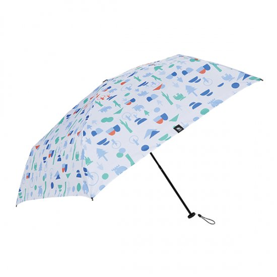 moz×mabu 耐風骨UVカット折り畳み傘 フォレスト