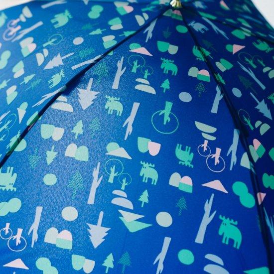 moz×mabu UVカット スリムジャンプ傘 フォレスト