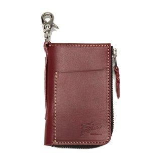 Foglia 外ポケット付キーケース ZK-509