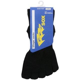 5本指 機能性ソックス FFFsox(エフスリーソックス) 22.0-24.5cm ブラック