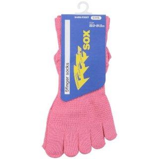5本指 機能性ソックス FFFsox(エフスリーソックス) 22.0-24.5cm ピンク