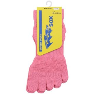 5本指 機能性ソックス FFFsox(エフスリーソックス) 25.0-28.0cm ピンク