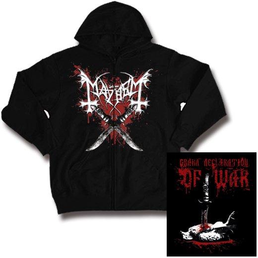 Mayhem / メイヘム - Grand Declaration Of War. ジップアップパーカー【お取寄せ】