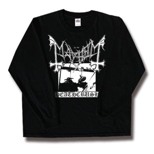 Mayhem / メイヘム - Deathcrush. ロングスリーブTシャツ【お取寄せ】