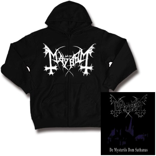 Mayhem / メイヘム - De Mysteriis Dom Sathanas. ジップアップパーカー【お取寄せ】