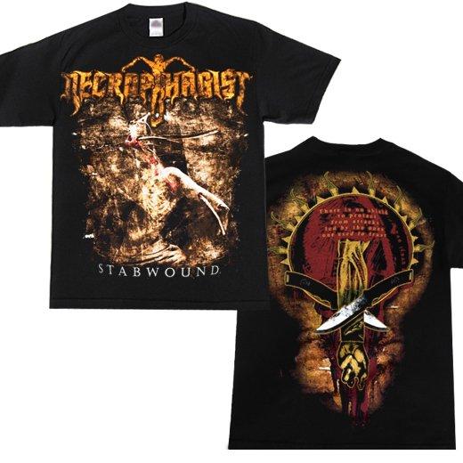 Necrophagist / ネクロファジスト - Stabwound. Tシャツ【お取寄せ】