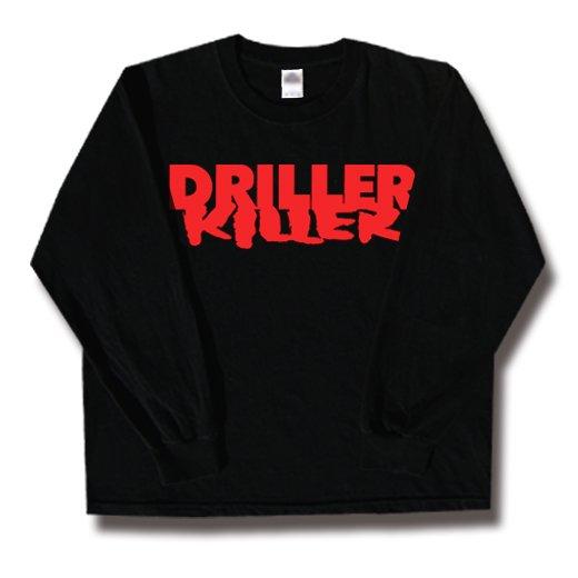Driller Killer / ドリラー・キラー - Logo. ロングスリーブTシャツ【お取寄せ】