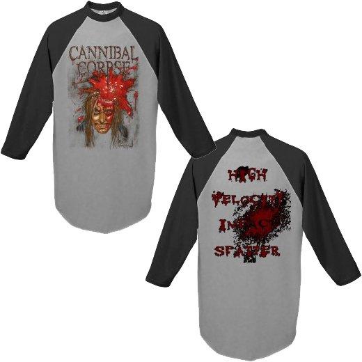 【お取寄せ】Cannibal Corpse / カンニバル・コープス - Impact Spatter. ラグランTシャツ