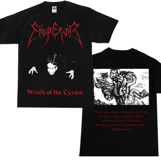 Emperor / エンペラー - Wrath Of The Tyrants. Tシャツ【お取寄せ】