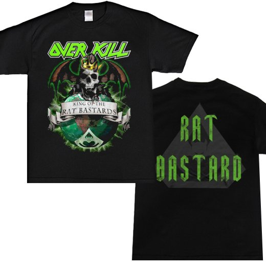 Overkill / オーヴァーキル - King of the Rat Bastards. Tシャツ【お取寄せ】