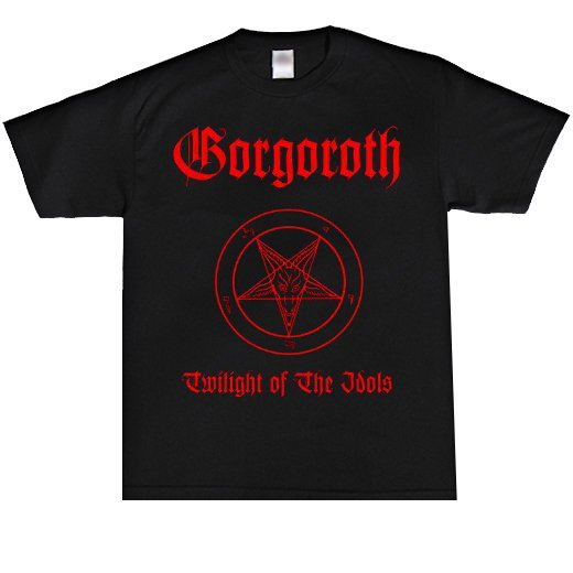 <img class='new_mark_img1' src='https://img.shop-pro.jp/img/new/icons1.gif' style='border:none;display:inline;margin:0px;padding:0px;width:auto;' />Gorgoroth / ゴルゴロス - Twilight Of The Idols. Tシャツ【お取寄せ】