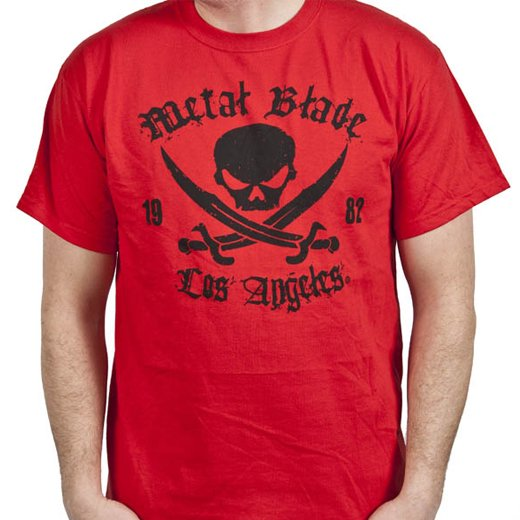 Metal Blade Records / メタル・ブレイド・レコーズ - Pirate (Red). Tシャツ【お取寄せ】
