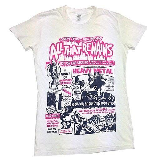 【即納商品】All That Remains / オール・ザット・リメインズ - Horror Poster. レディースTシャツ(Sサイズ)