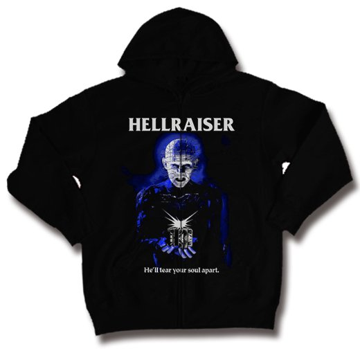 <img class='new_mark_img1' src='https://img.shop-pro.jp/img/new/icons1.gif' style='border:none;display:inline;margin:0px;padding:0px;width:auto;' />Hellraiser / ヘルレイザー - Pinhead. ジップアップパーカー【お取寄せ】