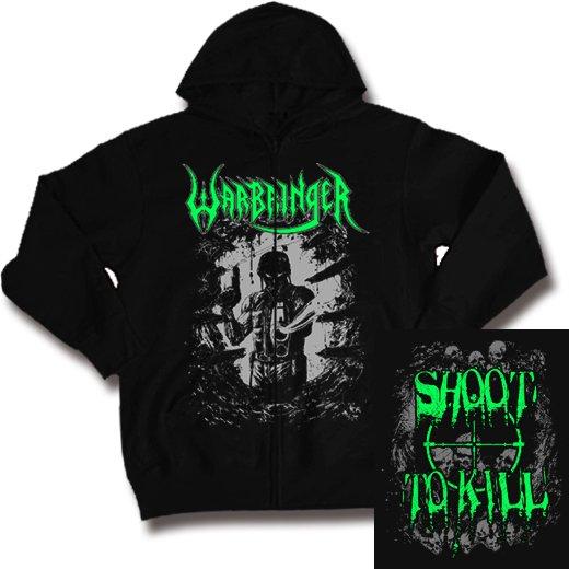 Warbringer / ウォーブリンガー - Shoot To Kill. ジップアップパーカー【お取寄せ】