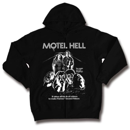 <img class='new_mark_img1' src='https://img.shop-pro.jp/img/new/icons1.gif' style='border:none;display:inline;margin:0px;padding:0px;width:auto;' />Motel Hell / 地獄のモーテル. ジップアップパーカー【お取寄せ】