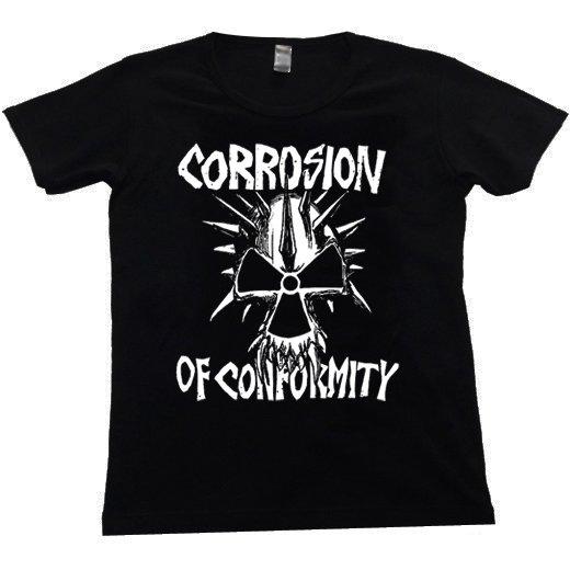 Corrosion Of Conformity / コロージョン・オブ・コンフォーミティ - Skull. レディースTシャツ【お取寄せ】