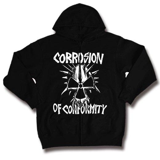 Corrosion Of Conformity / コロージョン・オブ・コンフォーミティ - Skull. ジップアップパーカー【お取寄せ】