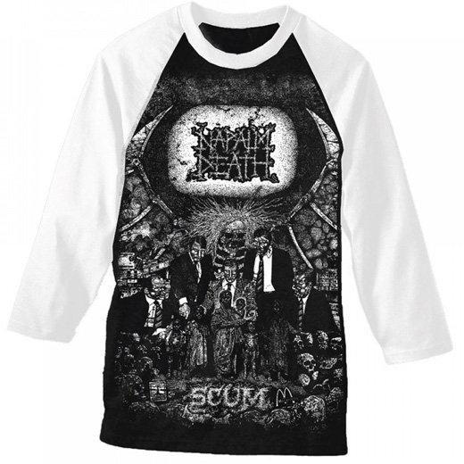 Napalm Death / ナパーム・デス - Scum. ベースボールシャツ【お取寄せ】