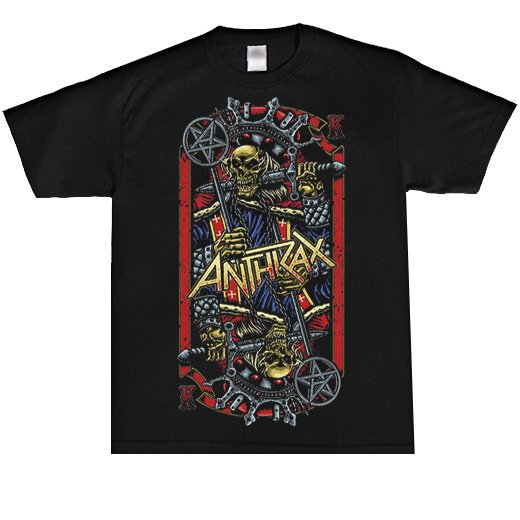 Anthrax / アンスラックス - Evil king. Tシャツ【お取寄せ】