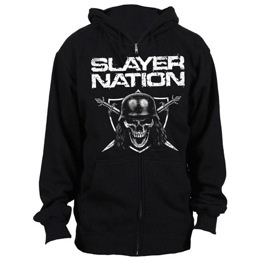 <img class='new_mark_img1' src='https://img.shop-pro.jp/img/new/icons1.gif' style='border:none;display:inline;margin:0px;padding:0px;width:auto;' />Slayer / スレイヤー - Slayer Nation. ジップアップパーカー【お取寄せ】