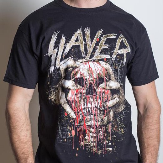 <img class='new_mark_img1' src='https://img.shop-pro.jp/img/new/icons1.gif' style='border:none;display:inline;margin:0px;padding:0px;width:auto;' />Slayer / スレイヤー - Skull Clench. Tシャツ【お取寄せ】