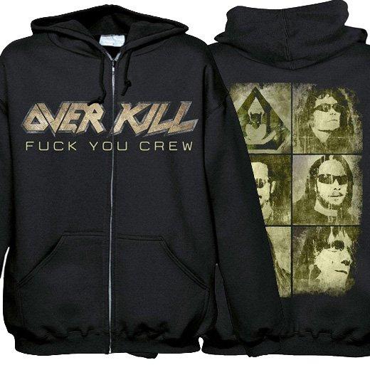 Overkill / オーヴァーキル - Fuck You Crew. ジップアップパーカー【お取寄せ】