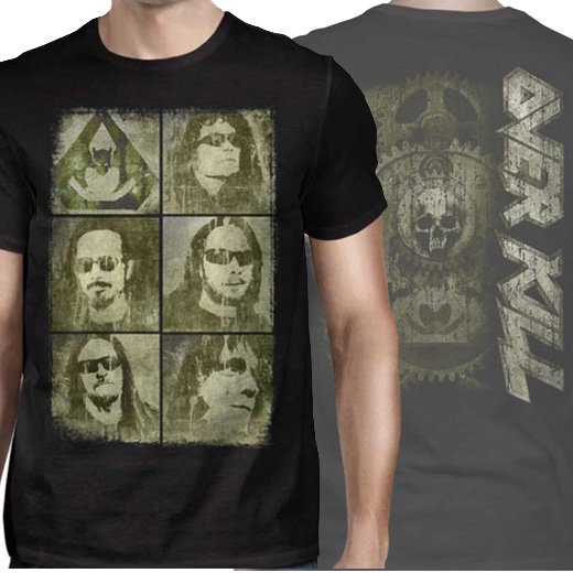 Overkill / オーヴァーキル - Faces. Tシャツ【お取寄せ】