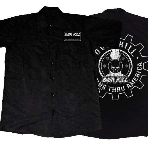Overkill / オーヴァーキル - Embroidered Gear Logo. ワークシャツ【お取寄せ】