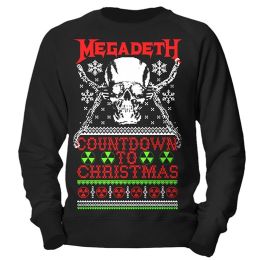 <img class='new_mark_img1' src='https://img.shop-pro.jp/img/new/icons1.gif' style='border:none;display:inline;margin:0px;padding:0px;width:auto;' />Megadeth / メガデス - Countdown To Christmas. クリスマスセーター【お取寄せ】